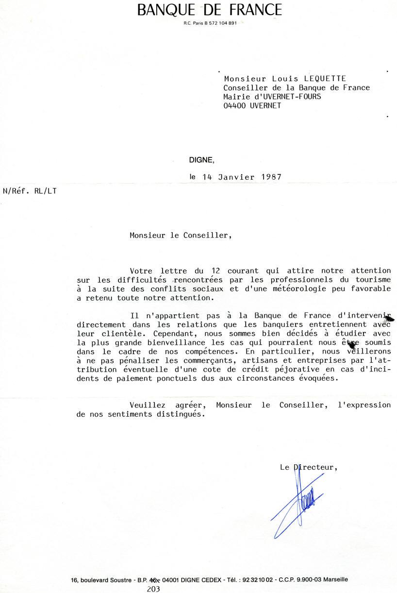 lettre banque lettre banque france lettre banque